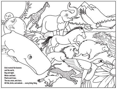 God Coloring Page